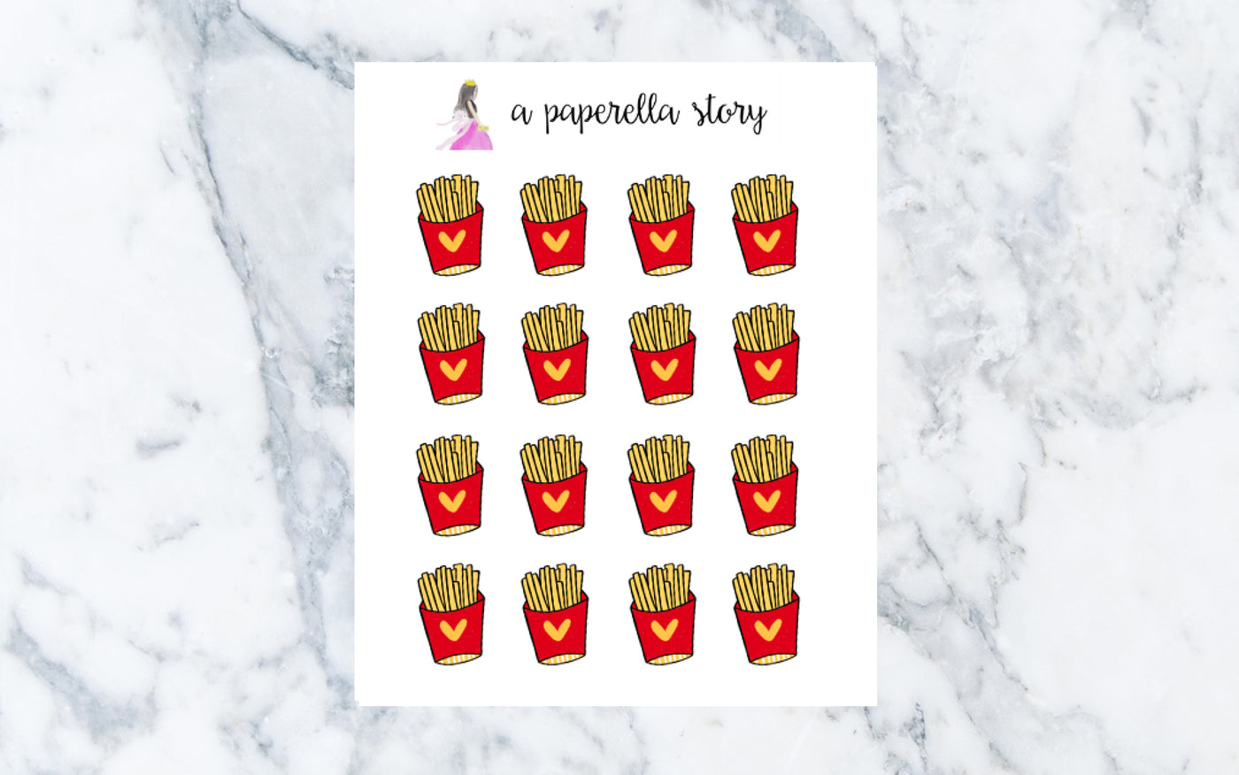 Fries Doodle Stickers