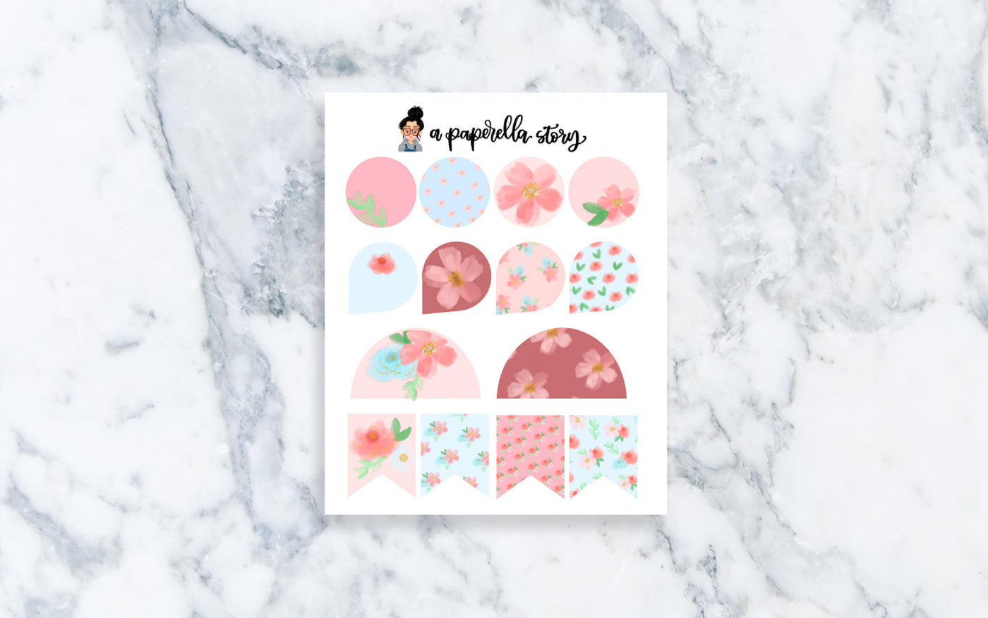 Summer Florals Functional Stickers