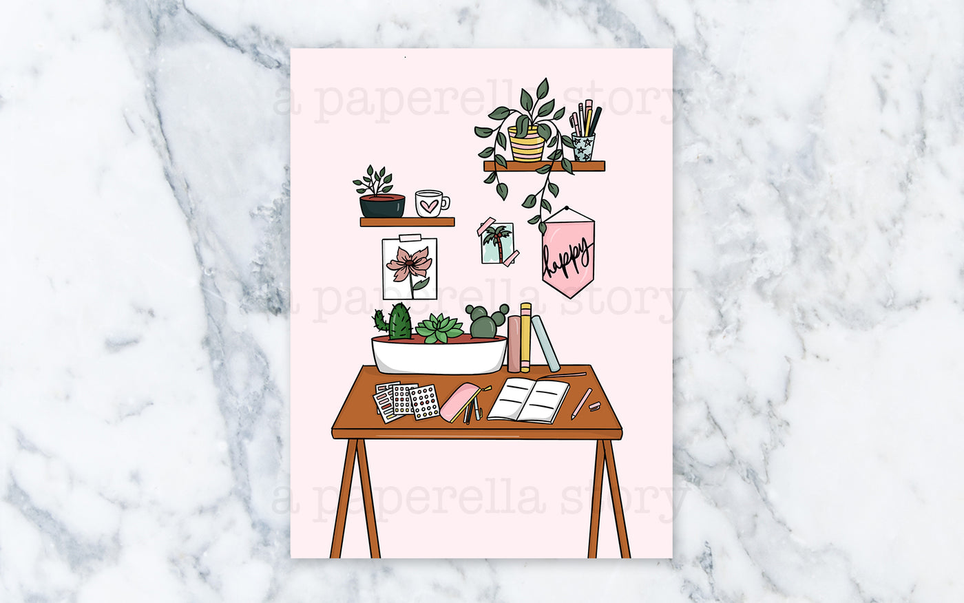 Plant Lady Desk - Digital File
