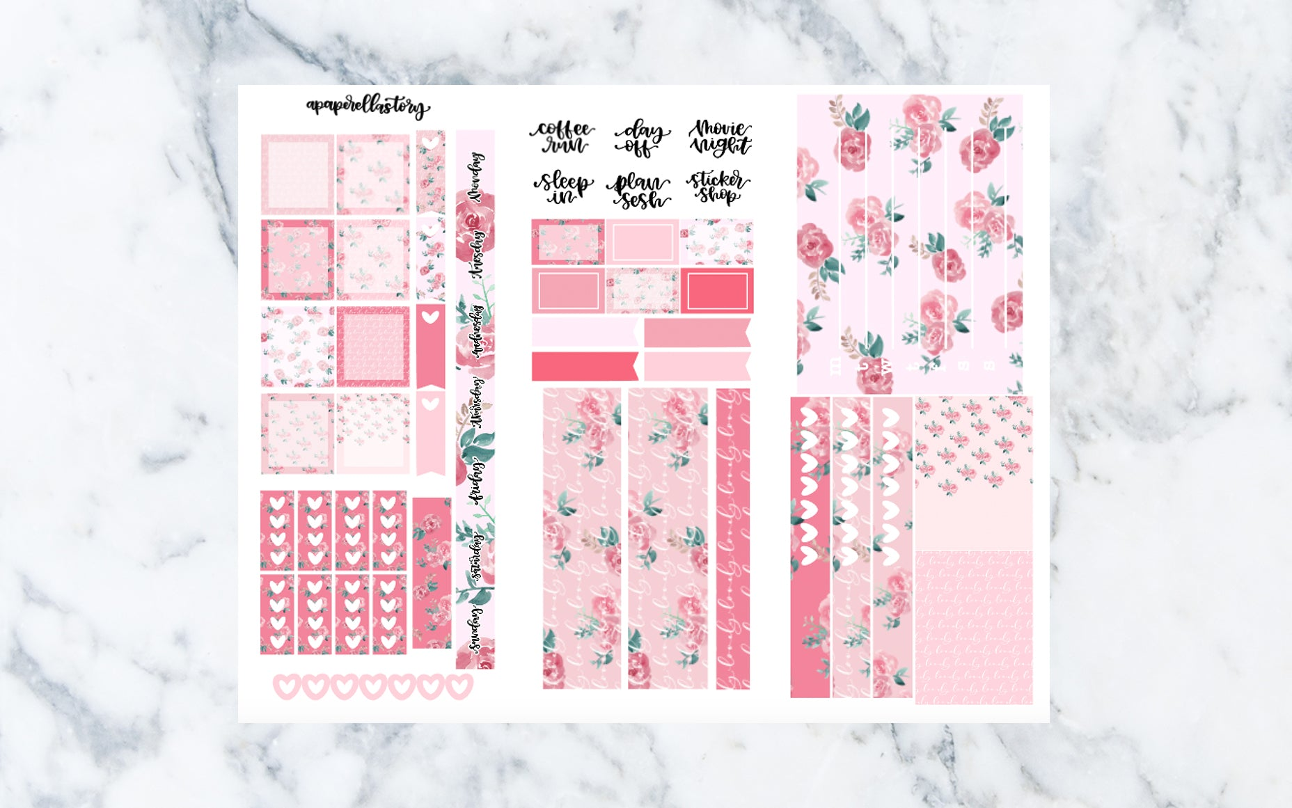 Girly Hobonichi Weeks Stickers