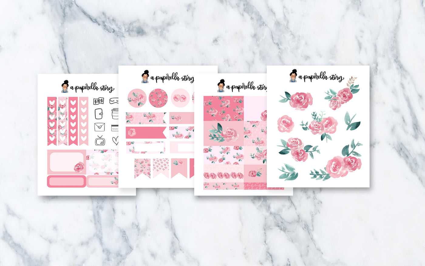 Girly Petite Sticker Kit