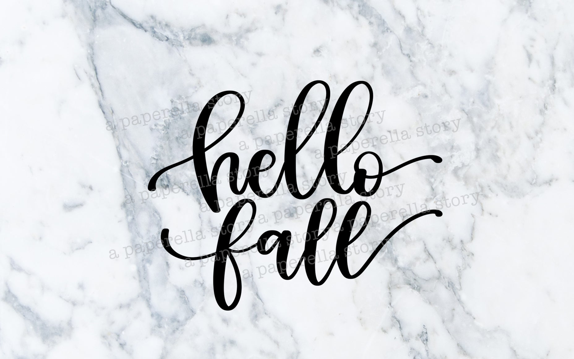 Hello Fall - Digital File