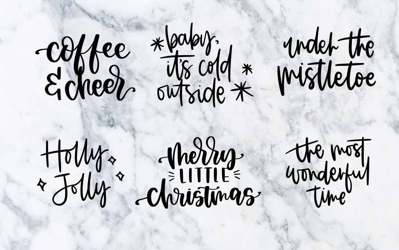 Holiday Lettering - Digital File