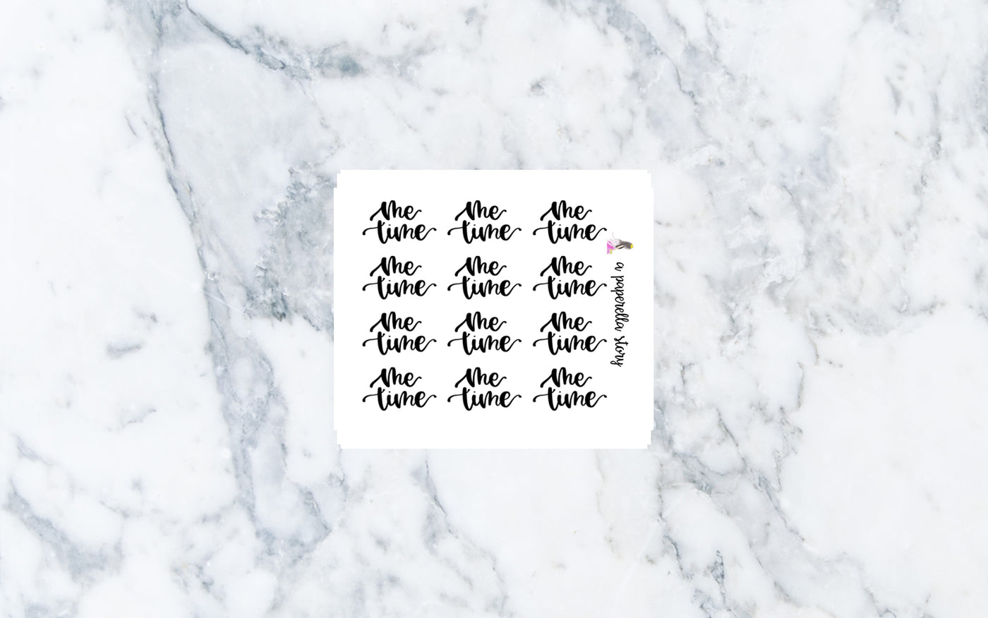 Me Time Hand Lettered Stickers