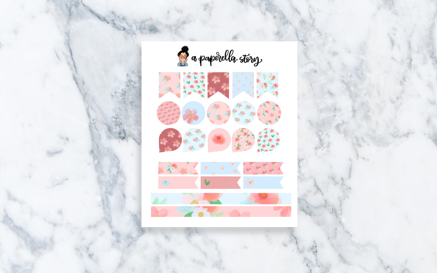 Summer Florals Mini Functional Stickers