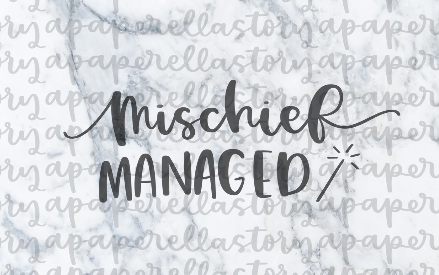 Mischief Managed Lettering - Digital File