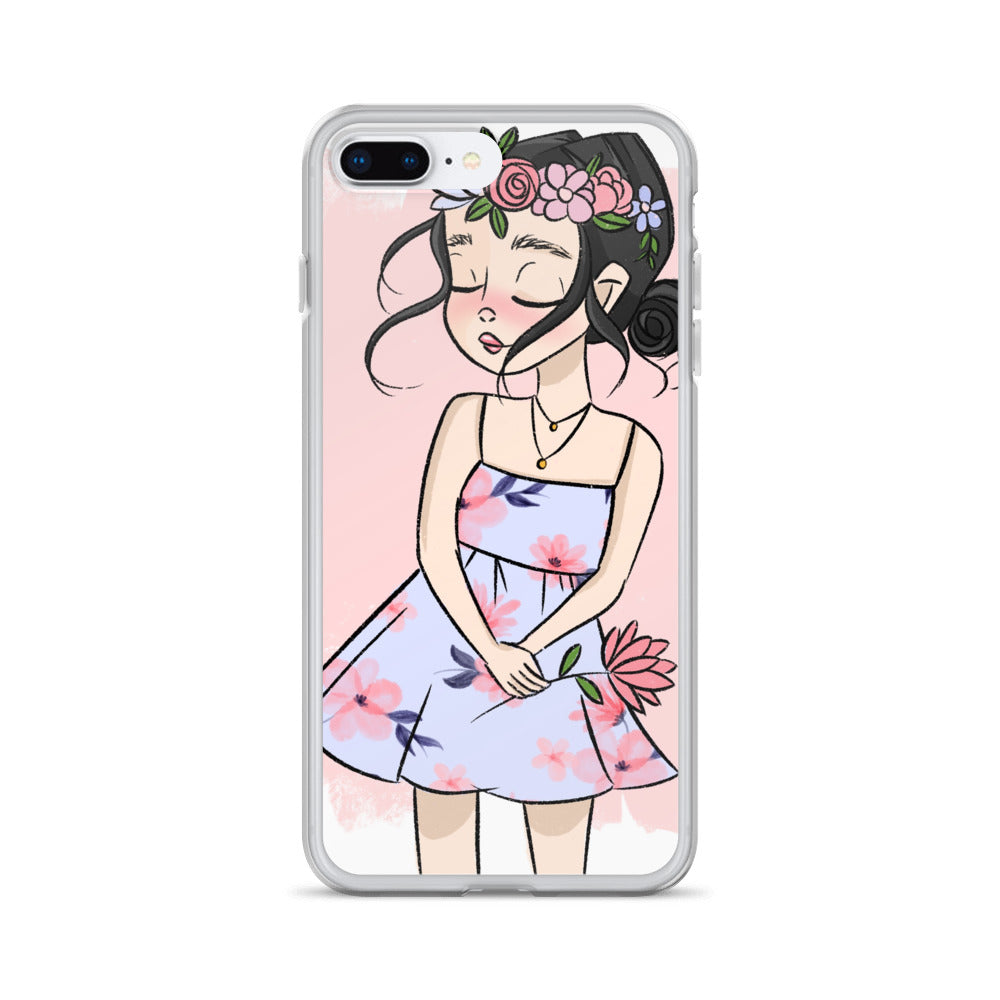 Rosy Girl iPhone Case