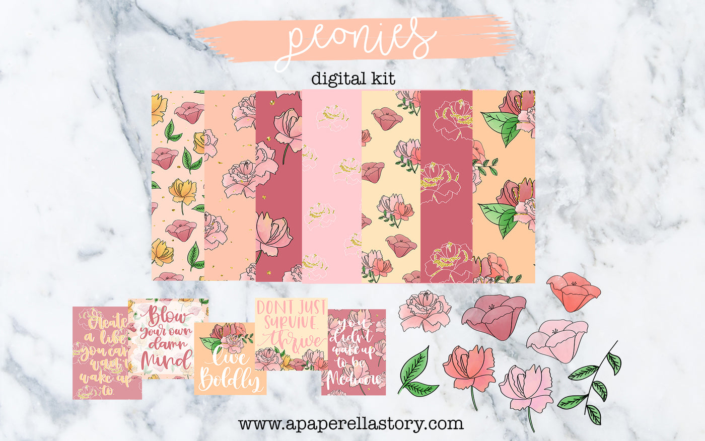 Peonies - Digital Kit