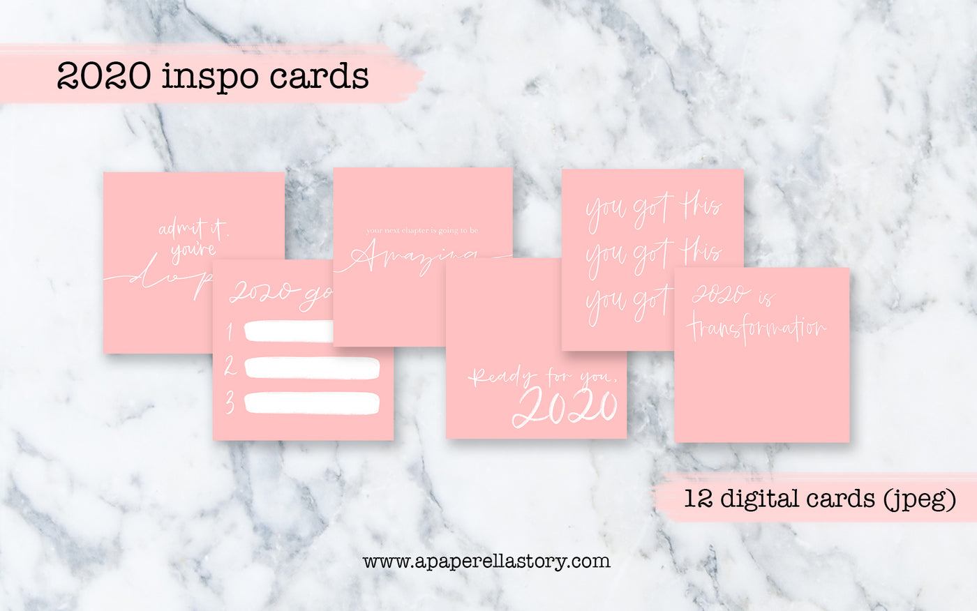2020 Inspo Cards (Pink Bundle) - Digital File