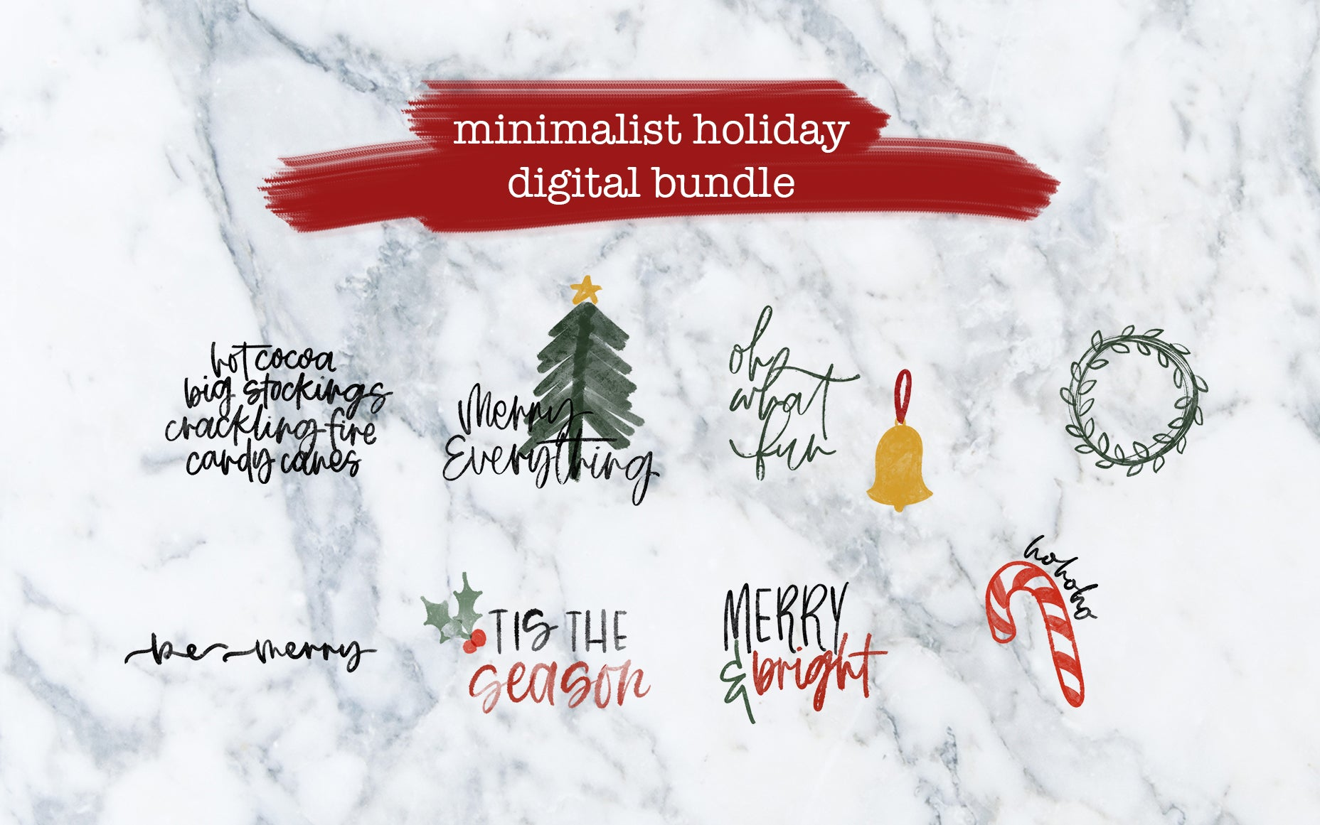 Minimalist Holiday Bundle - Digital File