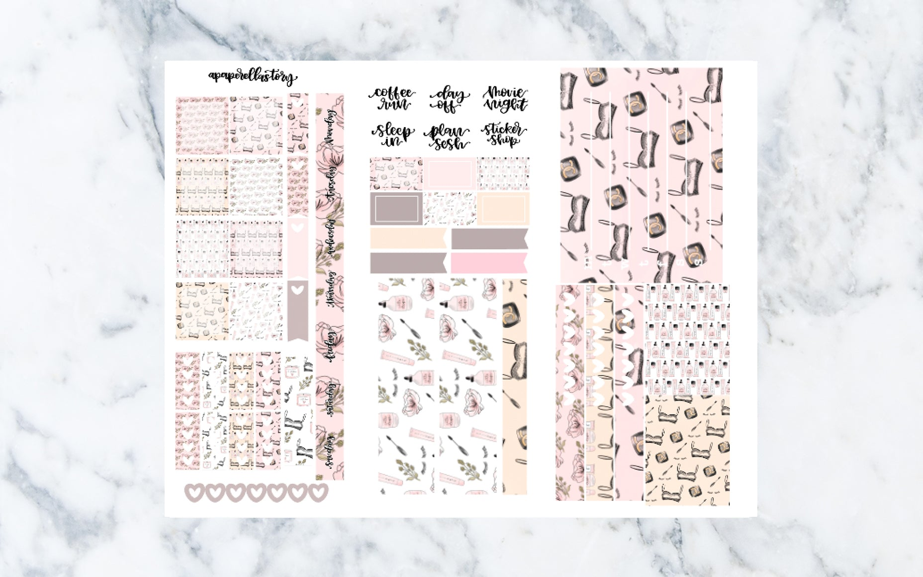 Self-Care Hobonichi Weeks Stickers