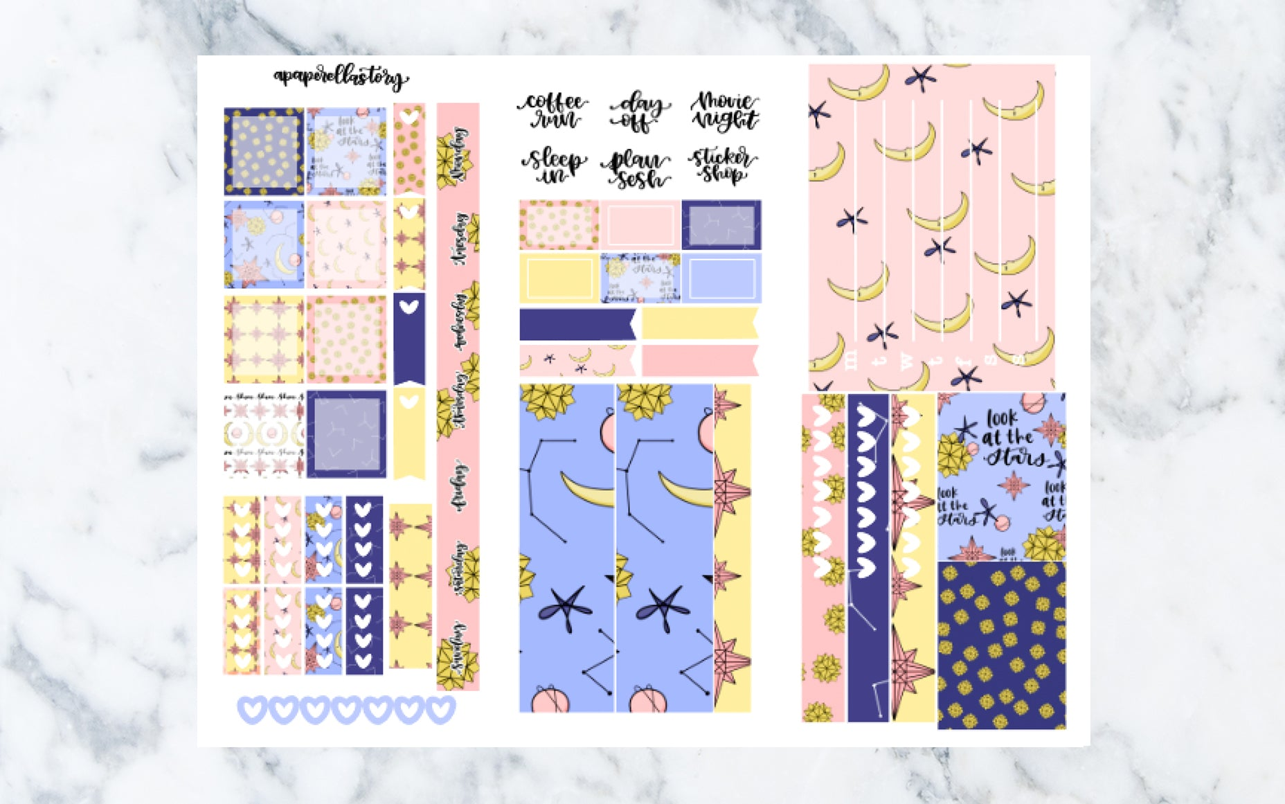 Shine Hobonichi Weeks Stickers (REFORMAT)