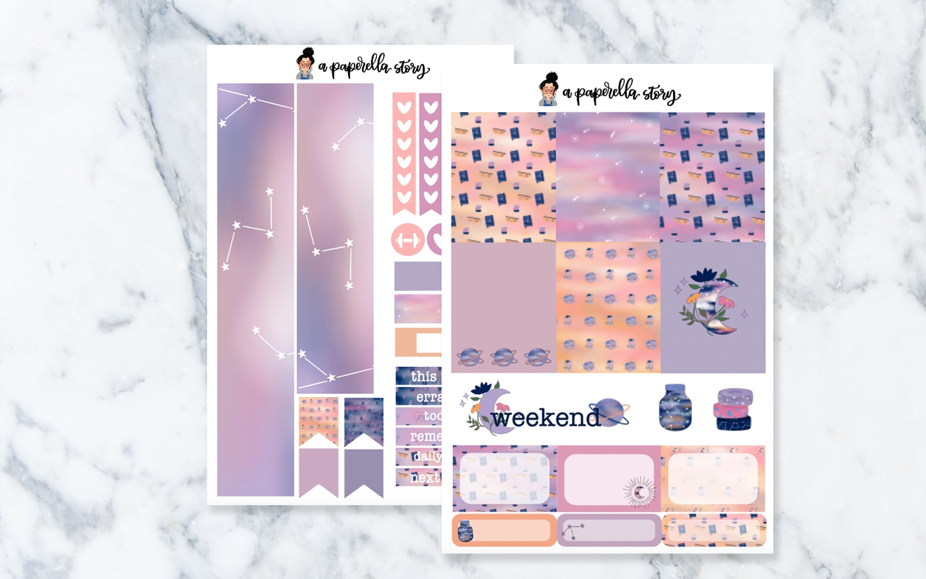 Spacey Mini Sticker Kit