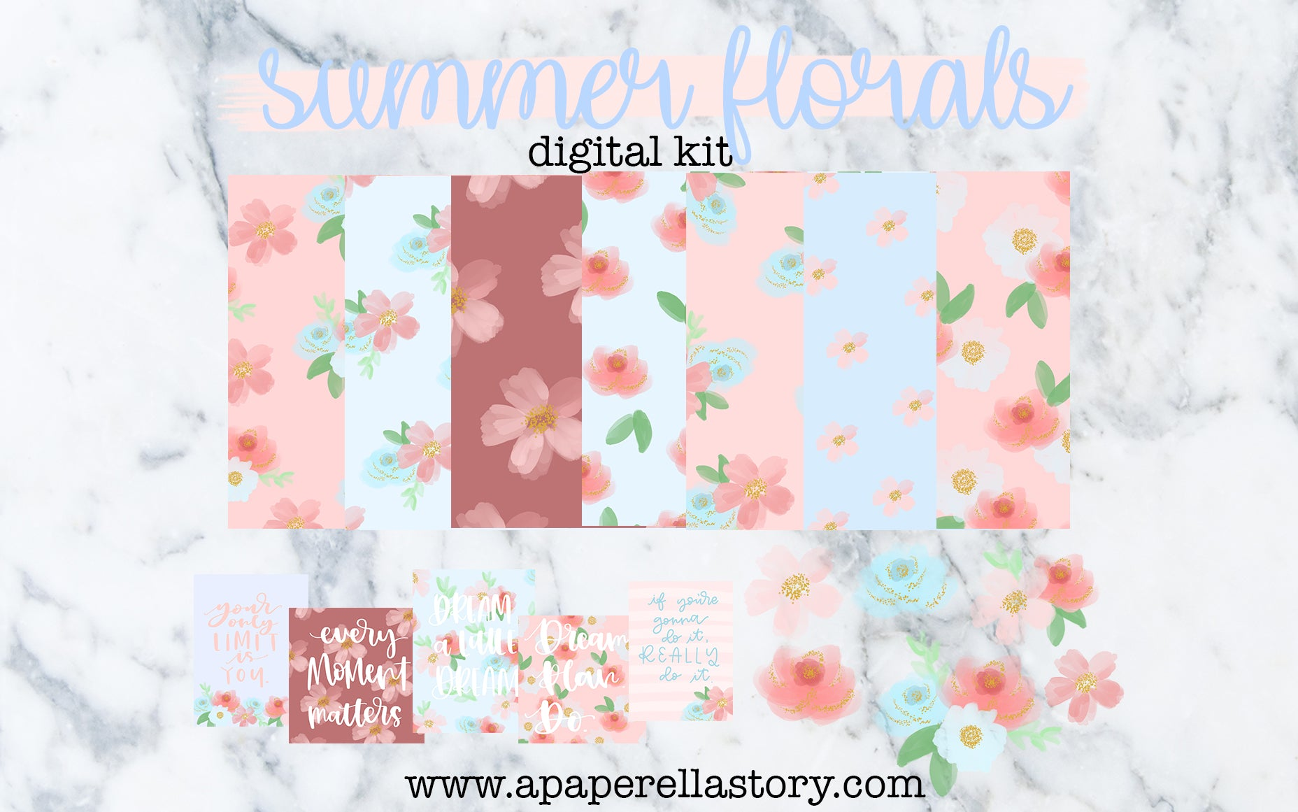 Summer Florals - Digital Kit