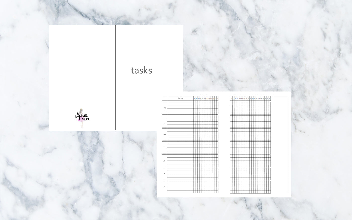 Weekly Tasks (Pocket TN) - Printable Inserts