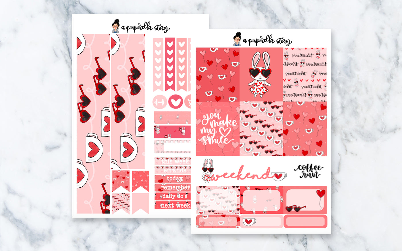 Happy Valentine's Day, Lily Mini Sticker Kit