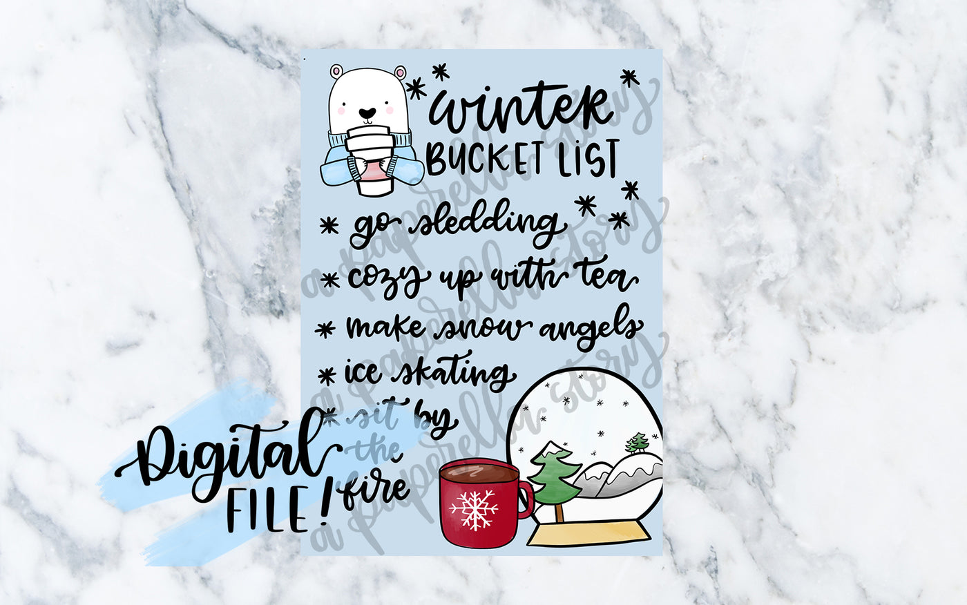 Winter Bucket List - Digital File