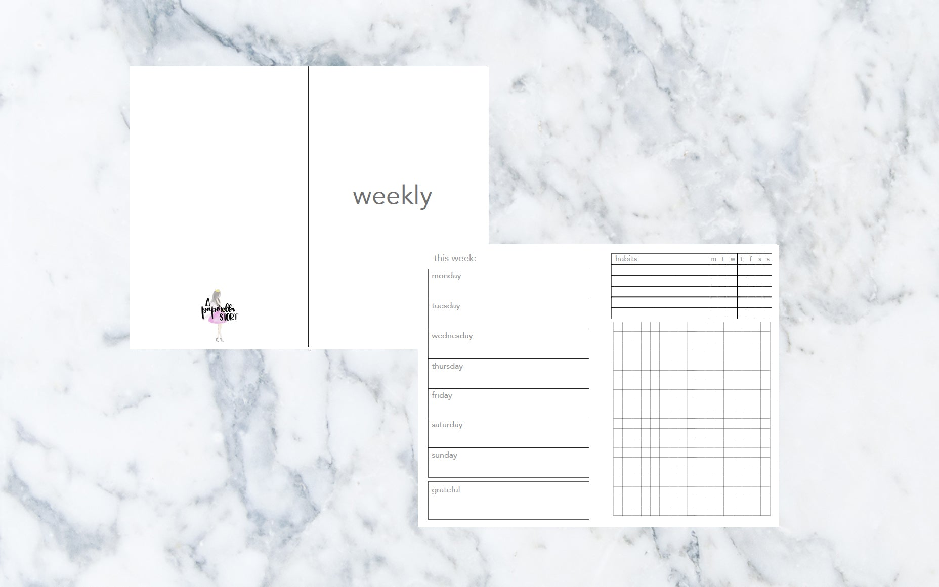 Week on 2 Page (Pocket TN) - Printable Inserts