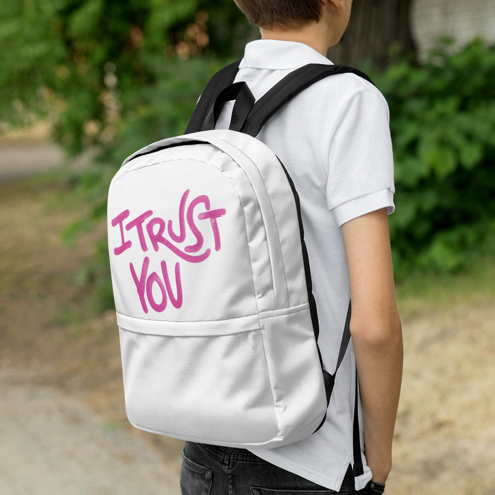 I Hold You Backpack Pink - I Trust You