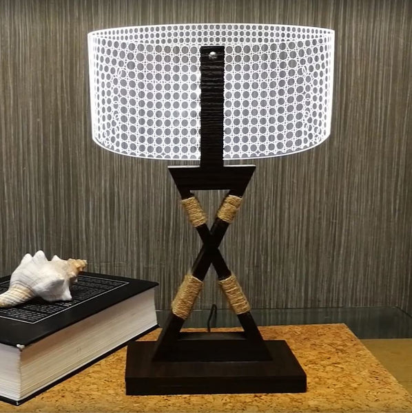 office lamp. 3D Wood Home Decor Office Gadget Christmas Gift Desk Lamp (MT301) G