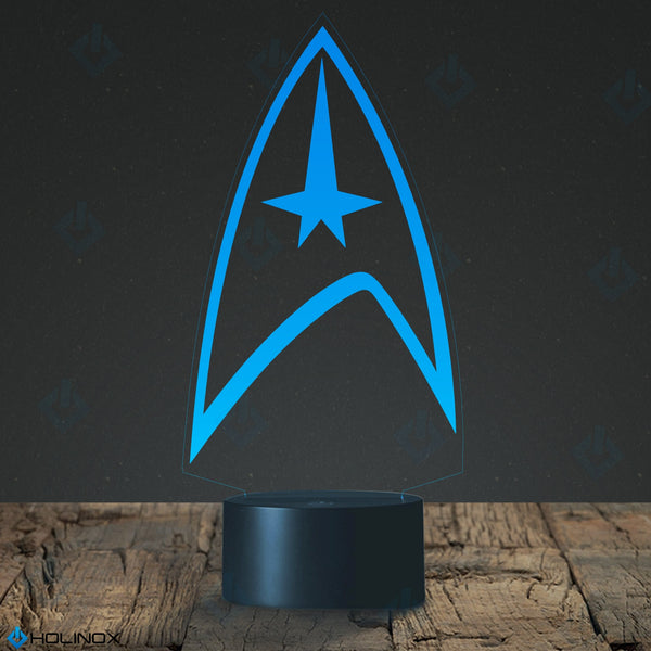 Star Trek Lighting Decor Gadget Lamp  Awesome Gift (MT015) By Holinox+FREE BONUSE - 18 in 1 Multi-purpose Credit Card Size Pocket Tool