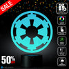 Star Wars GALACTIC EMPIRE Lighting Decor Gadget Lamp + Sticker Decor for Perfect Set, Awesome Gift (MT019)