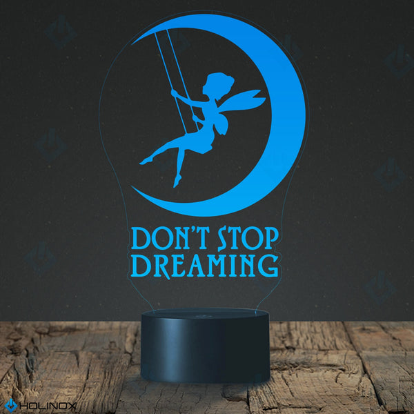 Don't Stop Dreaming, Dream lamp, Fairy and moon decoration, Kids Nightlight, Best Christmas Gift, Decoration lamp, 7 Color Mode, Awesome gifts (MT212)