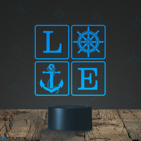 Love Sailing, Sailing dŽcor, Lamp with sailing design, Best Christmas Gift, Decoration lamp, 7 Color Mode, Awesome gifts (MT213)