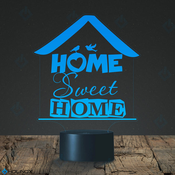 Home Sweet Home lamp, Text design with birds, Little House, Best Christmas Gift, Decoration lamp, 7 Color Mode, Awesome gifts (MT215)