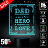 Dad A Son's First Hero, Dad lamp, Father's day gift idea, Decoration lamp, 7 Color Mode, Awesome gifts (MT217)