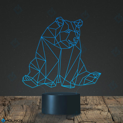 Geometric Bear Lamp, Best Christmas Gift, Decoration lamp, 7 Color Mode, Awesome gifts (MT222)