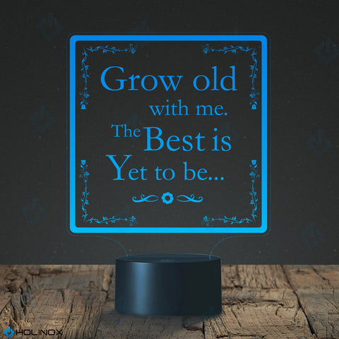 Grow Old With Me the Best is Yet To Be, Robert Browning quote, Poetry quote, Best Christmas Gift, Decoration lamp, 7 Color Mode, Awesome gifts (MT225)