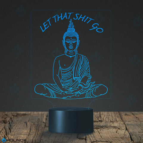 Let That Shit Go Buddha Lamp, Sitting Buddha, Best Christmas Gift, Decoration lamp, 7 Color Mode, Awesome gifts (MT227)