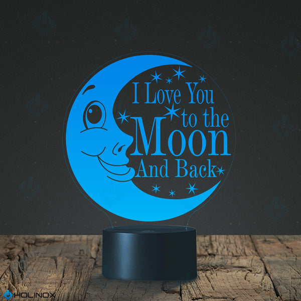 I Love You to the Moon and Back, Amelia Hepworth quote, Children's Nightlight, Best Christmas Gift, Decoration lamp, 7 Color Mode, Awesome gifts (MT228)