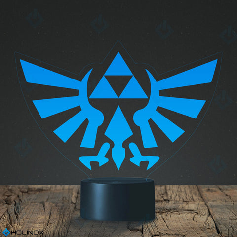 Legend of Zelda Triforce Lighting Decor Gadget Lamp + Credit Card Multy Tool 18 in 1, Awesome Gift (MT022) By Holinox