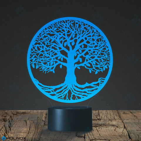 Tree of Life Design Lamp, Round design Tree of Life, Best Christmas Gift, Decoration lamp, 7 Color Mode, Awesome gifts (MT232)