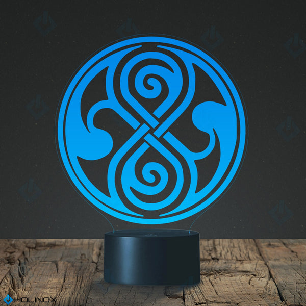 Doctor Who Seal of Rassilon Lighting Decor Gadget Lamp +FREE BONUSE - 18 in 1 Multi-purpose Credit Card Size Pocket Tool