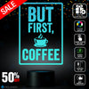 But First Coffee Block Text Lamp, Coffee theme lamp, Best Christmas Gift, Decoration lamp, 7 Color Mode, Awesome gifts (MT257)