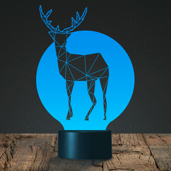 Deer 3D Light Awesome Christmas Gift MT258 +FREE BONUSE - 18 in 1 Multi-purpose Credit Card Size Pocket Tool