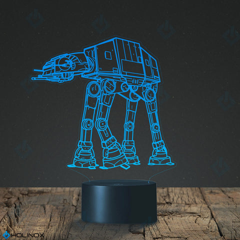 Star Wars AT AT walker Lighting Decor Gadget Lamp +Credit Card Multy Tool 18 in 1, Awesome Gift (MT025)