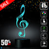 Sol Key G-Clef Lighting Decor Gadget Lamp + Sticker Decor for Perfect Set, Awesome Gift (MT030) By Holinox