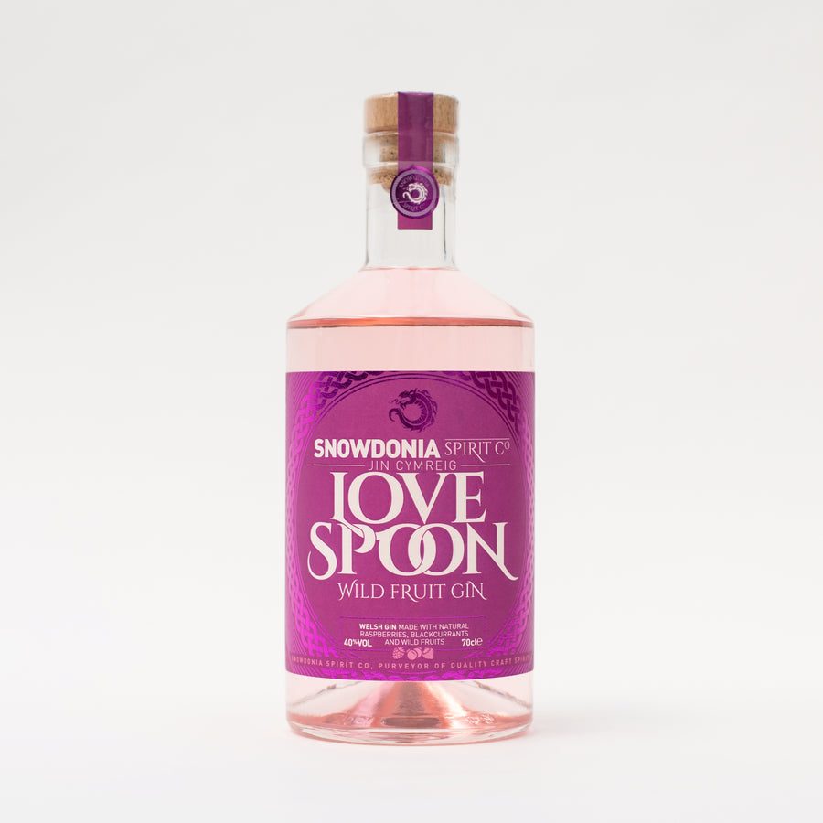 SNOWDONIA SPIRIT CO, LOVE SPOON, WILD FRUIT GIN 70CL