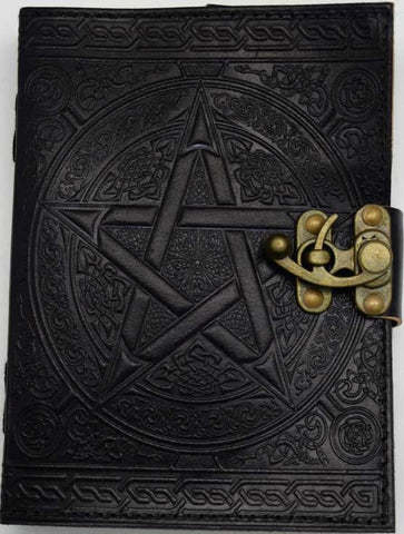 Black Leather Pentacle Journal