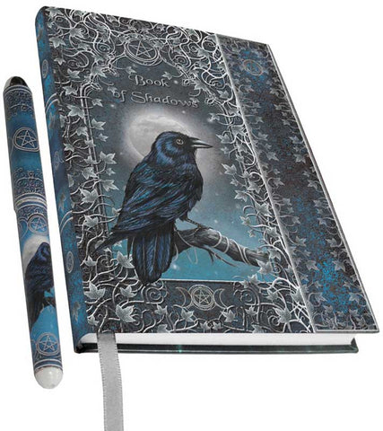 Raven/Crow Book of Shadows with Pen