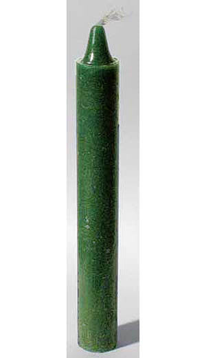 Green Taper Candle 6""