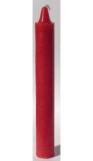 Red Taper Candle 6""