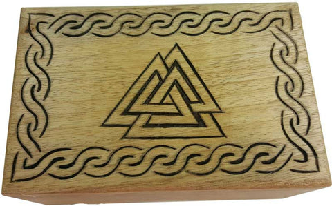 Triple Triangle Wood Box