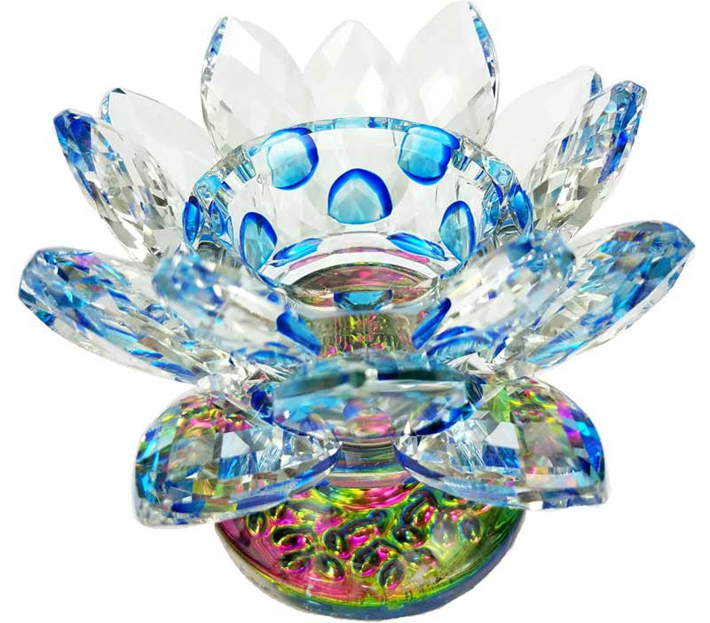 Lotus Tea Light Holder Blue