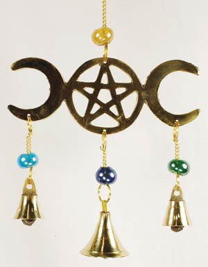 Triple Moon Wind Chime with Three Bells