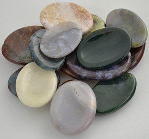 Jasper Worry Stone - Various Colors and Patterns